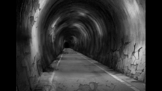 廃トンネルのイラスト
